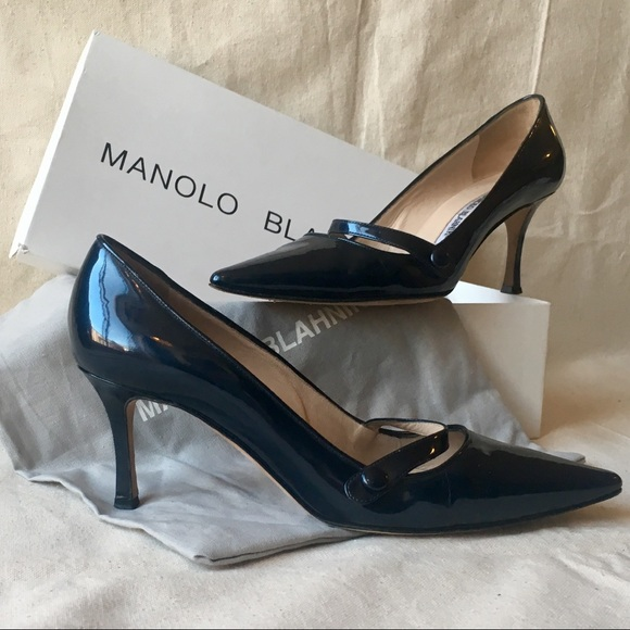 Manolo Blahnik Navy Campari Patent Mary Jane Pumps.  M 5a5bdbf6a4c4855ff8630c5c 9cf896580